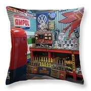 Hot Rod Garage 2 Throw Pillow