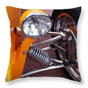 Hot Rod Headlight Throw Pillow