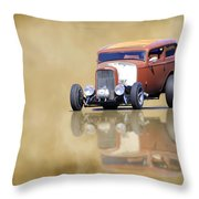 Hot Rod Reflection Throw Pillow
