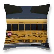 Hot Rod School Bus Throw Pillow by Mike McGlothlen