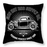 Hot Rod Shop Shirt Throw Pillow