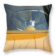 Hot Rod Steering Wheel 2 Throw Pillow