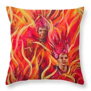 Hot Samba I Triptyche Left Panel Throw Pillow