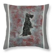 Hot Scottie Throw Pillow