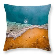 Hot Spring Detail Throw Pillow