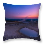 Hot Spring Sunset Throw Pillow