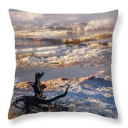 Mammoth Hot Springs One Throw Pillow