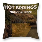 Hot Springs National Park In Arkansas Travel Poster Series Of National Parks Number 31 Throw Pillow
