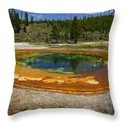 Hot Springs Yellowstone National Park Throw Pillow