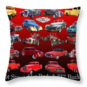 Car Show And Shine Poster Throw Pillow