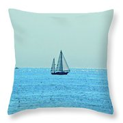 Hot Summer Day In New England Throw Pillow
