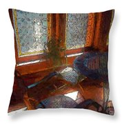 Hot Sun On Wrought Iron Throw Pillow