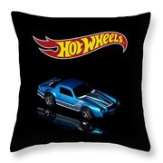 Hot Wheels 67 Pontiac Firebird 400-3 Throw Pillow by James Sage