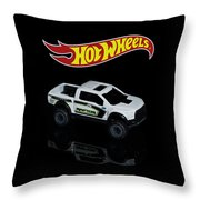 Hot Wheels Ford F-150 Raptor Throw Pillow by James Sage
