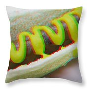 Hotdog - Use Red-cyan 3d Glasses Throw Pillow