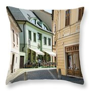 Hotel Around The Bend Throw Pillow