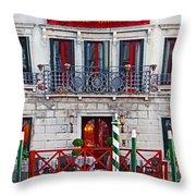 Hotel Canal Grande Throw Pillow
