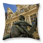 Hotel De Ville Throw Pillow