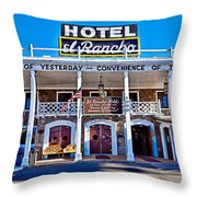 Hotel El Rancho Throw Pillow