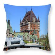 Hotel Fairmont Le Chateau Frontenac 6496 Throw Pillow