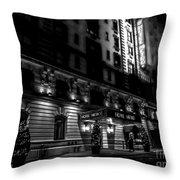 Hotel Metro, Nyc - Bw Throw Pillow