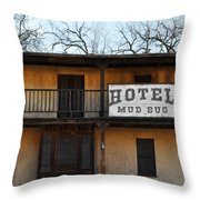 Hotel Mud Bug Paramount Ranch Throw Pillow