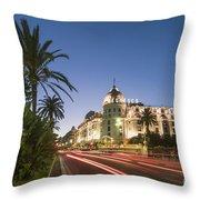 Hotel Negresco Nice  Throw Pillow