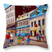 Hotel Nelson Old Montreal Throw Pillow