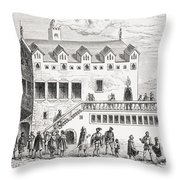 Hotel Of The Chamber Of Accounts In The Throw Pillow
