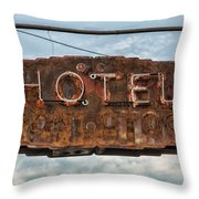 Hotel Pontotoc Throw Pillow