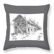 Hotel Red Lion Ghost Town Montana Throw Pillow