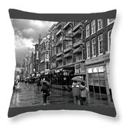 Hotel Row -- Amsterdam In November Throw Pillow