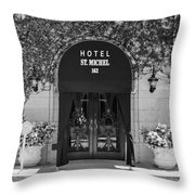 Hotel St Michel Throw Pillow