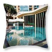 Hotel Swimming Pool Throw Pillow