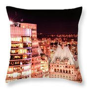Hotel Vancouver And Sheraton Wall Center Throw Pillow