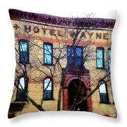 Hotel Wayne Bistro - Honesdale Pa Throw Pillow