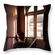 Hotel Window Throw Pillow