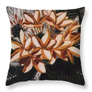Hothouse Flowers Throw Pillow