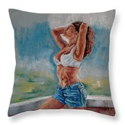 Hottness Throw Pillow