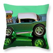 hotwheels blown 57 Chevy Throw Pillow