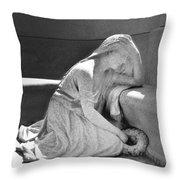 Houdini's Angel Throw Pillow by Robbie Masso