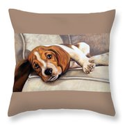 Hound Dog Throw Pillow