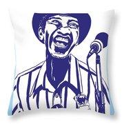Hound Dog Taylor Throw Pillow