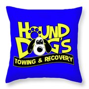 Hound Dogs Throw Pillow
