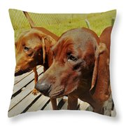 Hounds Throw Pillow