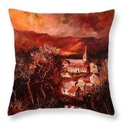 Hour Village 67 Throw Pillow