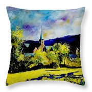 Hour Village Belgium Throw Pillow