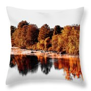 Housatonic River Mist Throw Pillow