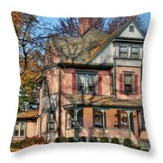 House - I Want That Big Pink House Throw Pillow by Mike Savad