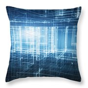 House 3d Project Throw Pillow